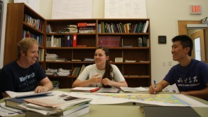 Students in LVC's Mathematics major work together to conduct research and complete assignments