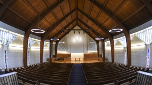Inside Lebanon Valley College's Frederic K. Miller Chapel