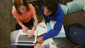 LVC Digital Communications students collaborate on a project