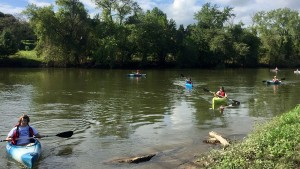 Lebanon Valley College outdoors club kayaking trip