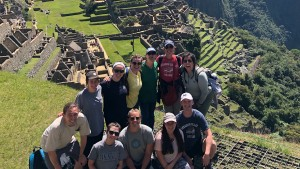LVC student's visiting Machu Picchu in Peru