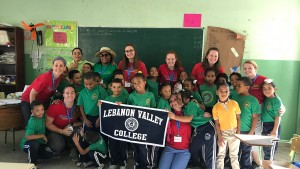 LVC students working with Outreach360 in the Dominican Republic
