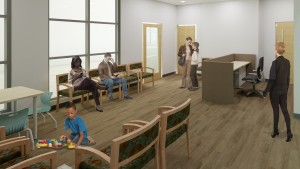 Waiting Room Area for the new LVC Center for Speech, Language and Hearing Disorders