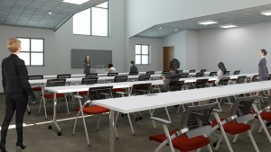 Brand new classrooms in the Center for Speech, Language, and Hearing Disorders at LVC