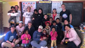 LVC students teaching English to children in Misminay, Peru