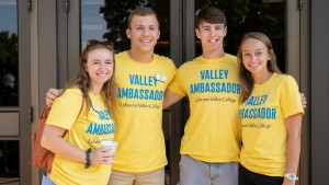 Valley ambassadors pose for a picture at LVC