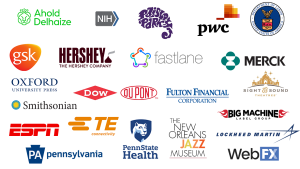 Logos where LVC alumni work