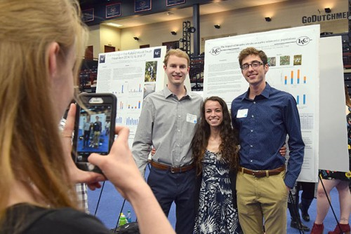 Students present their scholarly work at Lebanon Valley College's Inquiry symposium.