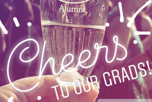 Seniors are invited to a formal toast led by the President of the College