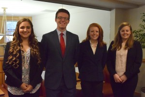 Strategic management group Rachel Anderson, Jonathan Kok, Hannah Dieringer, and Kortney Powlison