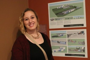 A art major presents her work from the LVC Reimagined exhibit