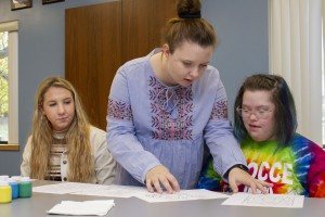 Lebanon Valley College speech-language pathology students work with patients at Developmental and Disability Services