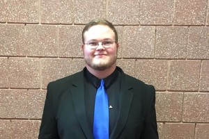 Music education major David Eagleson captured the conducting competition at a regional music conference.