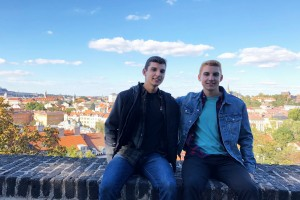 Kyle and Ryan Eaton studied abroad in Germany as digital communications majors at Lebanon Valley College