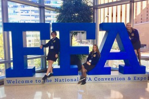 Audio & Music Production major Casey Kelly attends the National FFA Convention