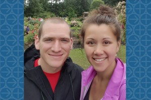 Lebanon Valley College graduate Heather Tran Smail poses with her husband