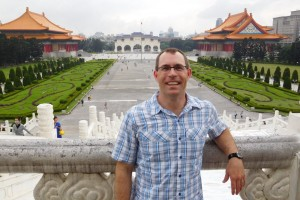 Physical Therapy professor Dr. Michael Fink poses for a picture in Taiwan