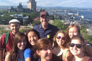 LVC students participate in the College's Go First! program in Quebec City