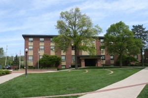 Beauty shot of the Mary Capp Green Residence Hall