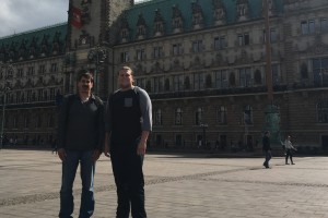 Digital Communications major Damien Grosso and Dr. Joel Kline explore Germany will conducting research
