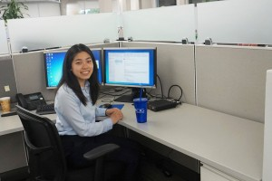 Actuarial science and analytical finance student Allison Liu completes an internship as part of her Lebanon Valley College program
