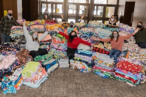 LVC collected almost 500 blankets for the Children's Resource Center.