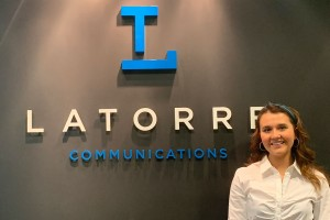Lebanon Valley College English student Huntre Keip interns at La Torre Communications