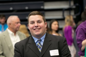 Digital Communications major Eric Kennedy participates in the inquiry symposium