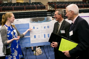 Neuroscience major Peyton Carper presents her research at Inquiry
