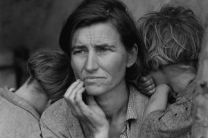 Dorothea Lange (American, 1895-1965), Migrant Mother, Nipomo, California, 1936, gelatin silver print, 32 x 26 inches, art2art Circulating Exhibitions