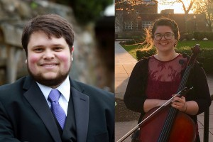 Cellist Rachel Cheston and vocalist George Hegedus won the concerto aria music competition at Lebanon Valley College