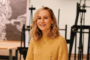 Art and visual culture major Blair Orndorf will be featured as part of La Cigale's emerging artist exhibit.