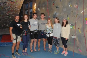 LVC Physical Therapy and Early Childhood Education students participate in a rock climbing program