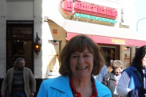 Dr. Diane Johnson poses for a photo while traveling abroad