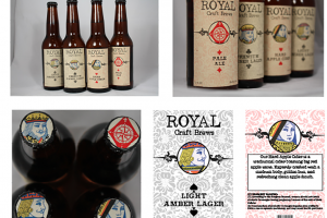 A digital communications major designed labels and a carrier for brand of beer