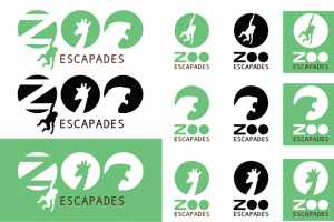 An LVC Digital Communications student created a logo and other branding for a fictional zoo