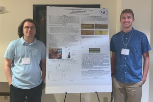 Jacob Franklin '23 presents his research  at the Disappearing Boundaries Summer Research Meeting in 2019.