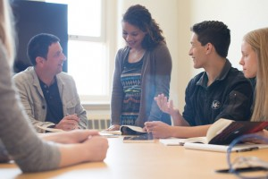 Students meet with faculty to discuss their ideas