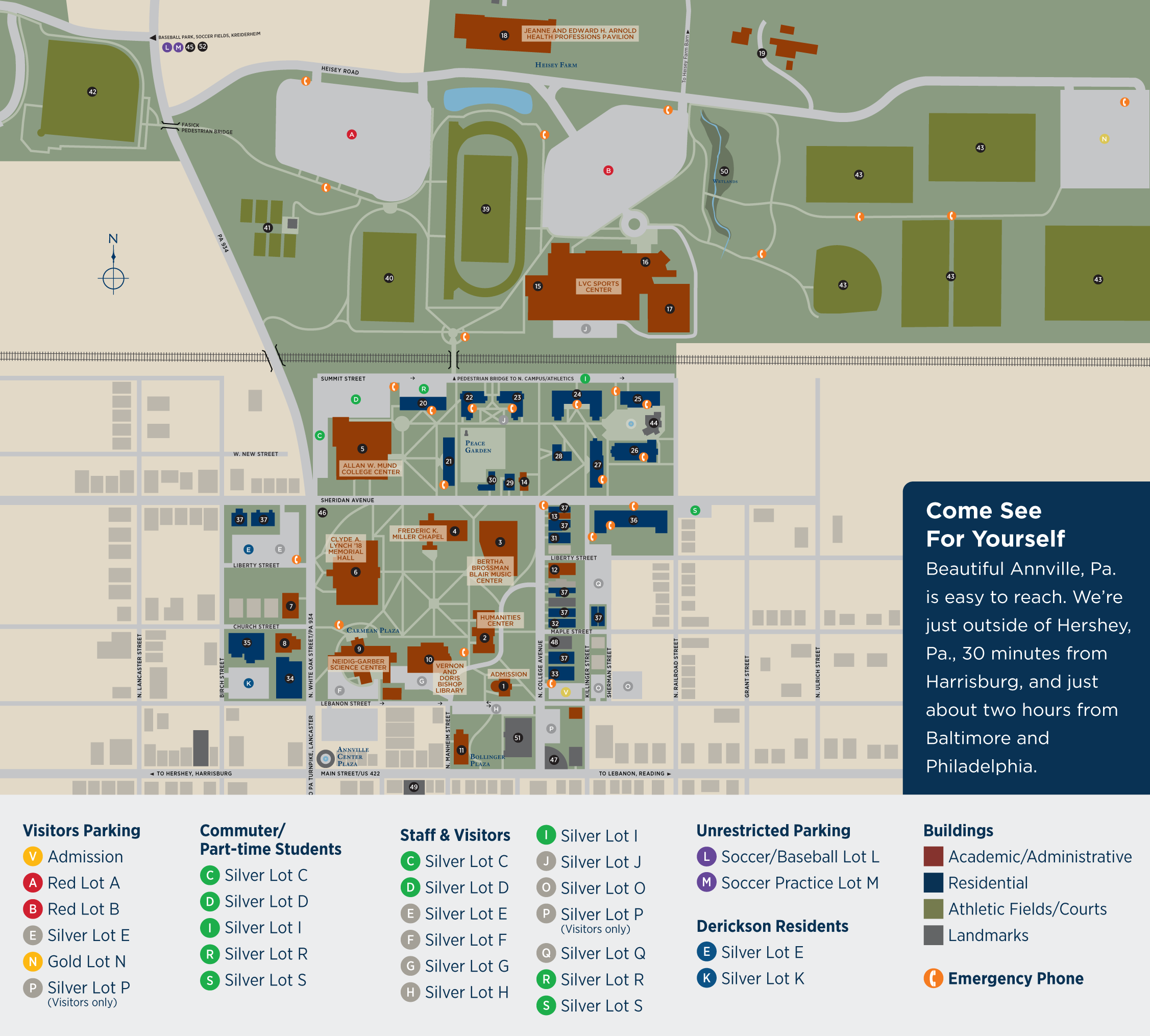 Lebanon Valley College Campus Map.Campus Map Lebanon Valley College